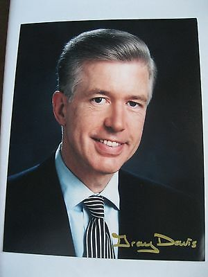 Governor of California Gray Davis signed autographed 8x10 Photo very nice!