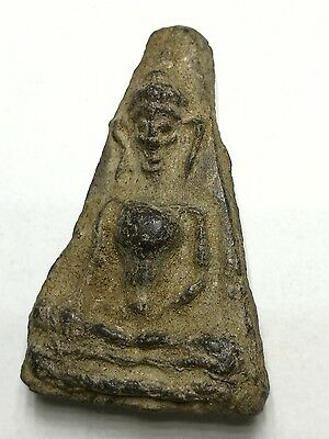 LP Phra Thai Amulet Buddha Talisman Holy Old Powerful Magic Gift Collectible 35.