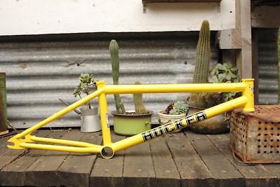 S&m Bikes Hucker Frame - Yellow Bmx Frame - Usa Made