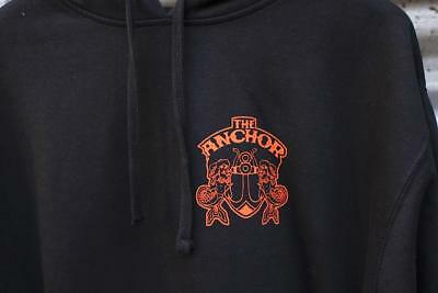 ANCHOR SPOOKY DOS SHIELD HOODED PULLOVER JUMPER in BLK/ORANGE