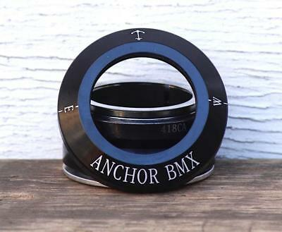 ANCHOR BMX HEADSET - NAUTICAL COMPASS INTEGRATED HEADSET in BLK, POLISHED - B...