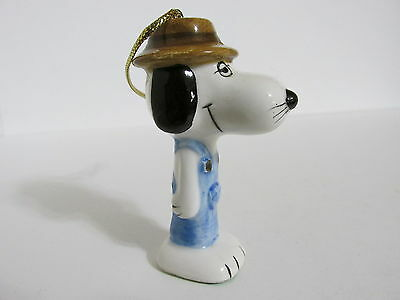 Snoopy Peanuts Charlie Brown  Determined Ceramic Christmas Ornament Spike 1979