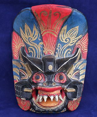 Carved Wood Theatre/Dance Mask - Bali Indonesia
