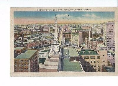 Vintage Postcard Linen  Birds Eye View Of Indianapolis Ind