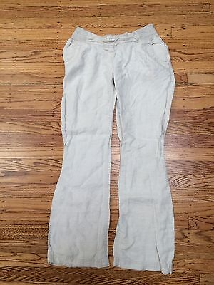 Motherhood Maternity Linen Maternity Pants Size S