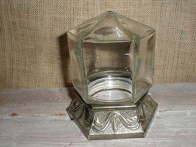 Vintage Bowl  O  Beauty Co. Real Roses Six Sided Jar With Stand