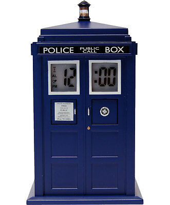 DOCTOR WHO - Tardis Projection Light & Sound FX Alarm Clock (Zeon Ltd.) #NEW