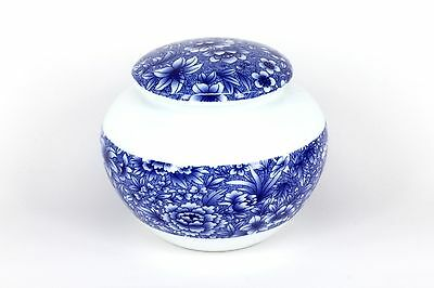 Chinese Blue and White Floral Porcelain 15cm Tea Caddy