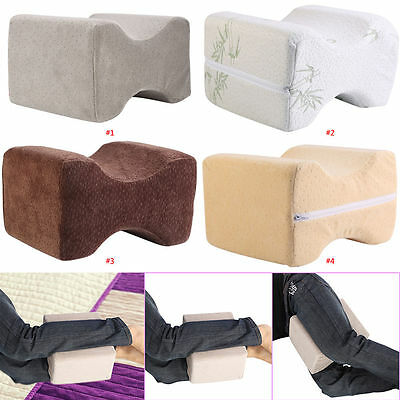 Memory Foam Cool Knee Leg Pillow w/Cooling Gel Pad Washable Cover Slow Rebound