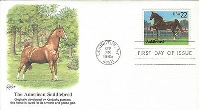 1985 The American Saddlebred Horse FDC with Fleetwood cachet