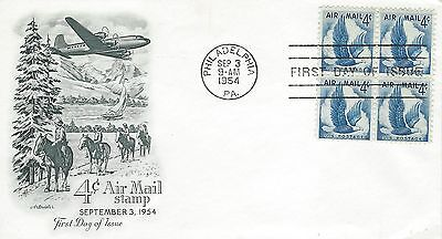 1954 4 cent Air Mail Eagle FDC with Artmaster cachet