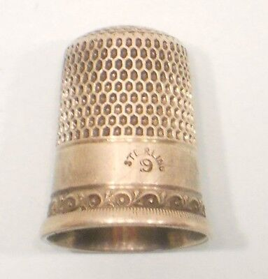 Sterling Silver Thimble, 9