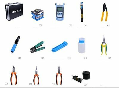 Fiber Optic FTTH Tool Kit with FC-6S Fusion Splicers Optical Power  NEWEST