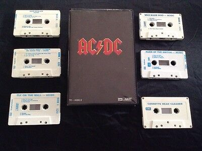 Ac/dc Box Set Cassette Tape X 6 Tc- Ac Dc 2 Early Australia Albert Productions