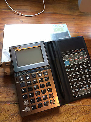 Vintage NOS Casio IF8000 LCD touch screen pocket computer calculator