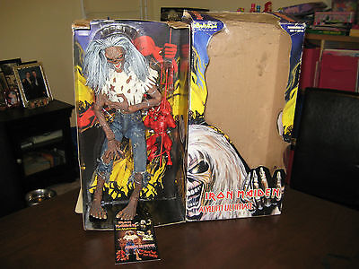 "Iron Maiden Eddy-Figure Set-Rare -Number Of The Beast 18""great Used"
