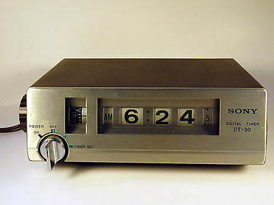Vintage Sony DT-30 digital timer Clock operated switch Alarm A/V Audio Video