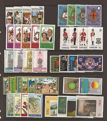 British Commonwealth selection of 10 unmounted mint sets.Mini Collection.