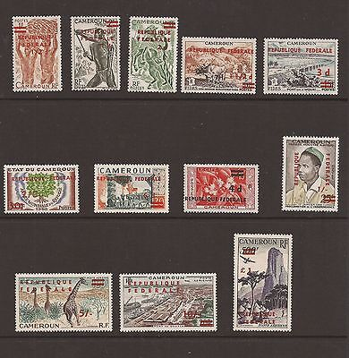 Cameroon 1961-62 'Republique Federale' overprints. lightly mounted mint