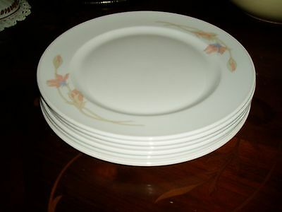 "Six China 13"" Plates - Delicate Design By Dunson - Used Twice - (Very Expensive)"