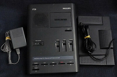 Philips LFH-1720 Microcassette Transcription System with Foot Switch LFH-1210