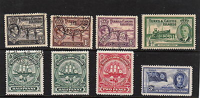 Turks and Caicos Islands KGV1 Various designs used M/H