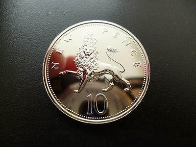 1971 Proof 10P Piece From A Royal Mint Proof Set. 1971 Ten Pence Coin.