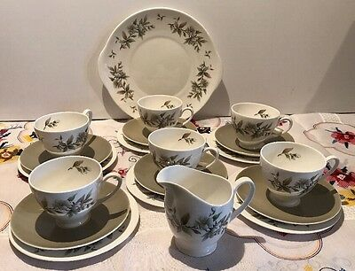 Ridgway Potteries Royal Adderley Arcadia Fine Bone China Tea Set - 20 pcs