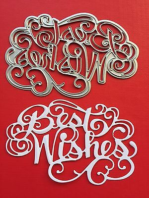 NEW• BEST WISHES FLOURISH DIE For Cuttlebug Or Sizzix