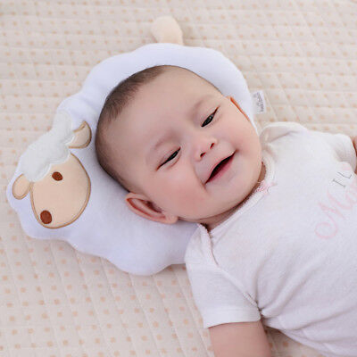 2 in 1 Organic Cotton Baby Protective Sleeping Pillow and Nursing Pillow(Lamb)