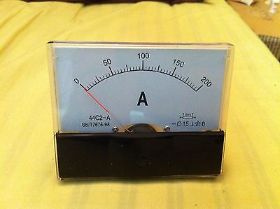 Class 1.5 Accuracy DC 0-200A Analog Ammeter Current Panel Meter
