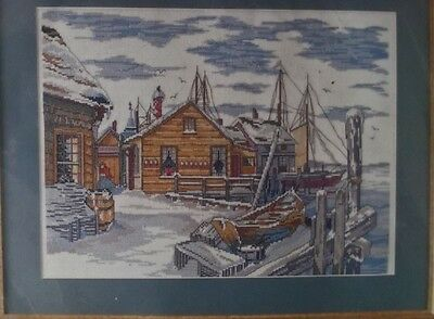 """Design Works """" Winter at the Docks"""" counted cross stitch kit"""