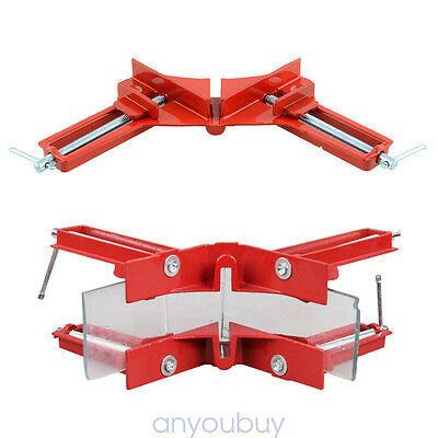 "4PCS 3"" Right Angle Miter Corner Picture Frame Clamp Holder Woodwork 90 Degree"