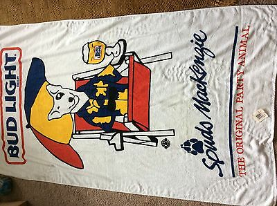 Bud Light spuds mackenzie beach towel 35 x 59 inches brand new