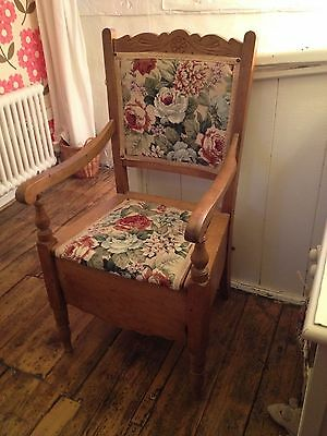 Antique/Vintage Late Victorian/Edwardian Ex-Commode Chair