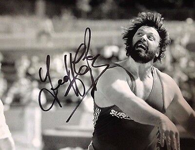 Geoff Capes - British Olympic Athlete  - Signed Action Photograph