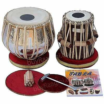 Copper Tabla Set Maharaja™Buy Concert Extra Heavy Tabla 5.5Kg+Dayan+Accs./aad-2