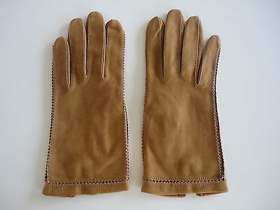 Never Worn Vintage 1950s/60s Calf Leather Gloves - Size XS