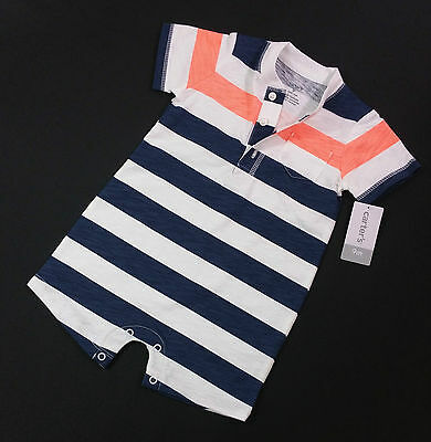 Baby Boys CARTER'S Romper Shorts Playsuit Jumpsuit Ages 6 / 9 / 12 Mths BNWT
