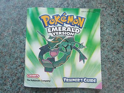 MANUAL ONLY Pokemon Emerald - Game Boy Advance GBA Instruction Manual Only