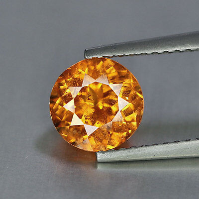 2.23 cts~Round Cut~Vivid Fanta Orange~Natural~Nigeria~Spessartite~GQ872