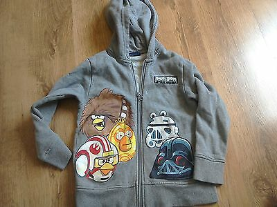 Next Star Wars Angry Birds Zip Up Hoodie Size 6 years
