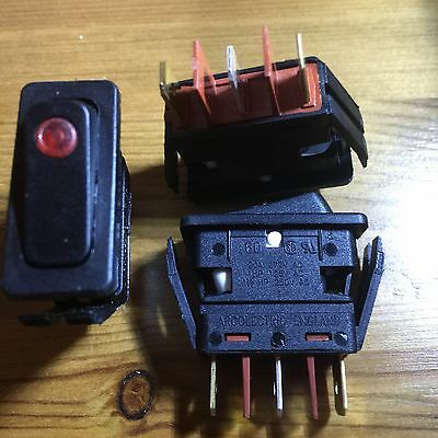Red Led  Illuminated Rocker Switch ON/OFF 240v - ARCOLECTRIC