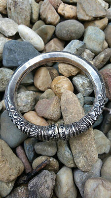1930s Sterling Bracelet Ethnic Tribal Indian Handmade Jewelry Rajasthan