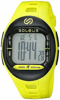 Soleus SF001 Fitness Tracker - Water Resistant Activity Tracker - Lime Green
