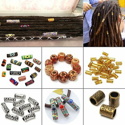 10 Types dreadlock Perlina Capelli Treccia Accessorio Perla Clip anelli 5/8mm
