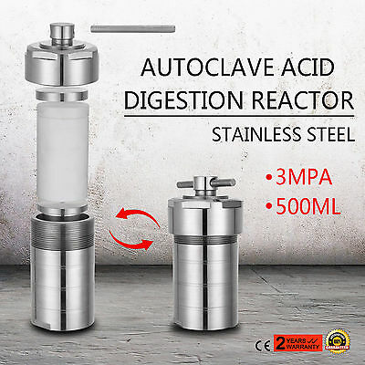 500ML Autoclave Digestion Reactor Anti-leakage Stainless Steel HQ PTFE