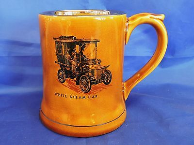 Wade Veteran Cars Series Tankard - White Steam Car
