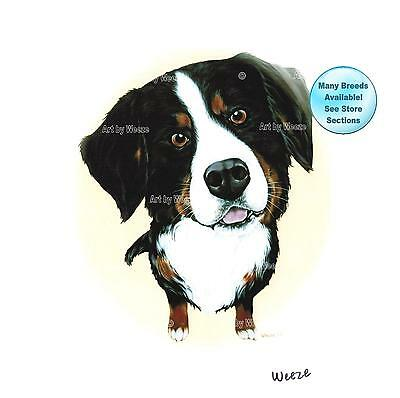Bernese Mountain Dog Art Print Pet Portrait Picture
