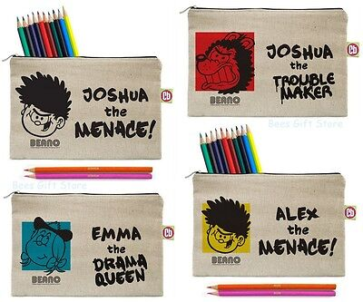 Personalised BEANO Pencil Cases Gifts Ideas For Kids BACK TO SCHOOL Stationery
